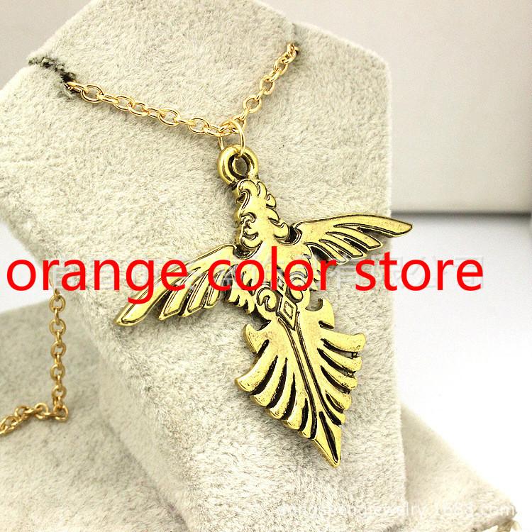 Freeshipping wholesale Passy Jackson camp Jupiter SPQR Eagle Necklace 20 pcs / lot movie jewelry(China (Mainland))