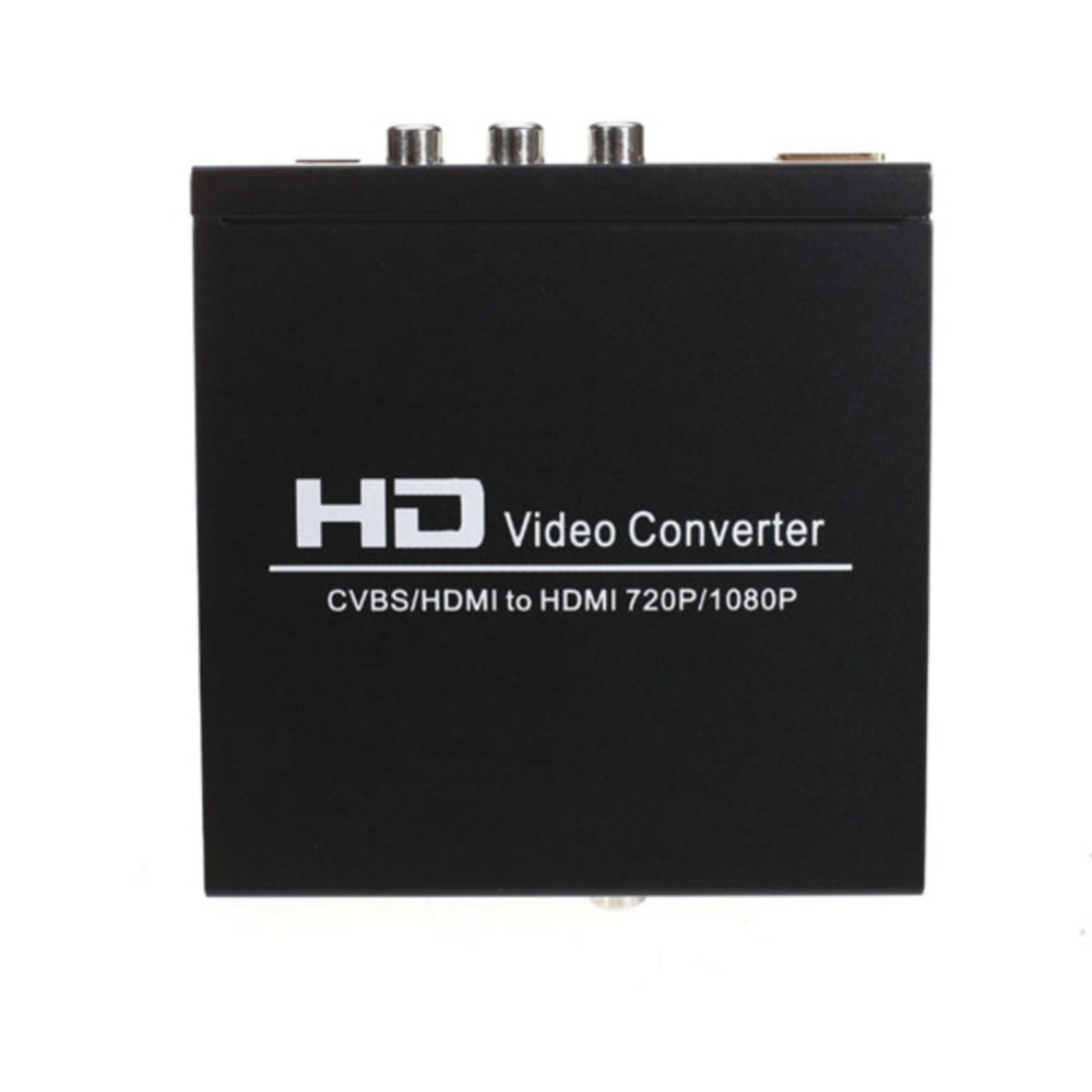 Free ship AV+HDMI TO HDMI converter 480I(NTSC)/576I(PAL) to 720P/1080P AV and HDMI Switcher hdmi output(China (Mainland))