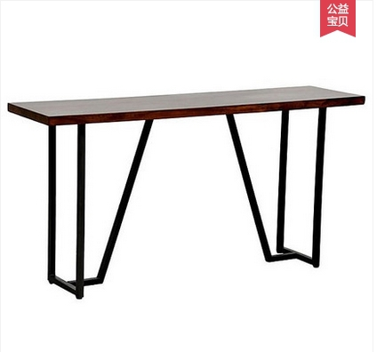 American country wrought iron wood tables tall bar tables bar cafe retro rural computer desk desk(China (Mainland))