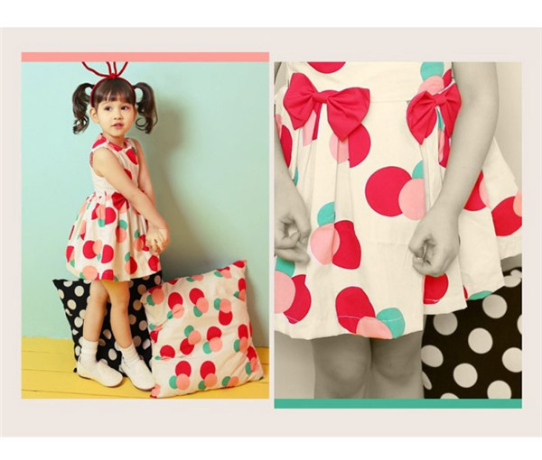 Kids Girls Dress Cheap Children Clothes Carnival Wear Baby Costume Fashion Printed Dresses High Quality qz325(China (Mainland))