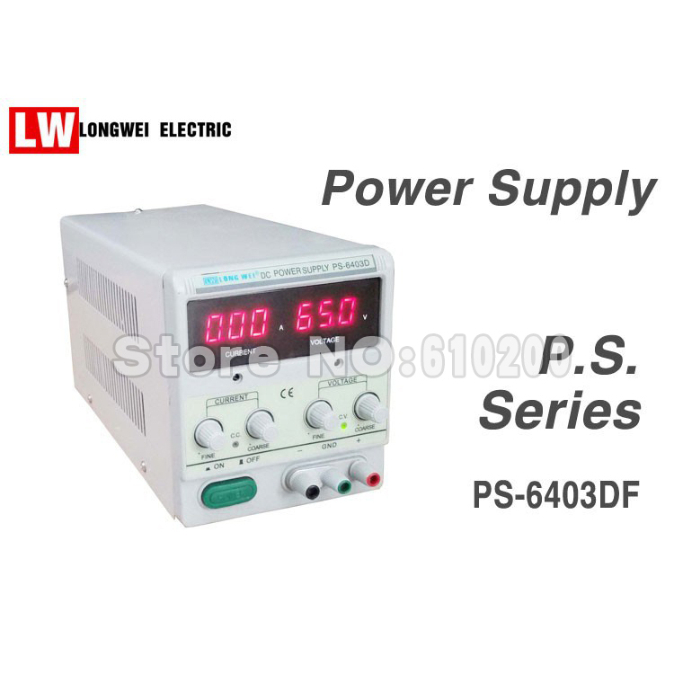 Фотография PS-6402D Single Channel Output 64V 2A Adjustable 3 LED Accurate Digital Display Linear DC Power Supply