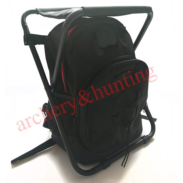 Free shipping folding fishing bag and multifunctional for Fishing backpack chair