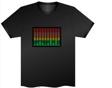 T shirt Luminous Tshirts  DJ Shirts Round Neck Cotton LED Short Sleeve Fashion Black T-shirts S,M,L,XL,XXL 2015 New Arrival(China (Mainland))