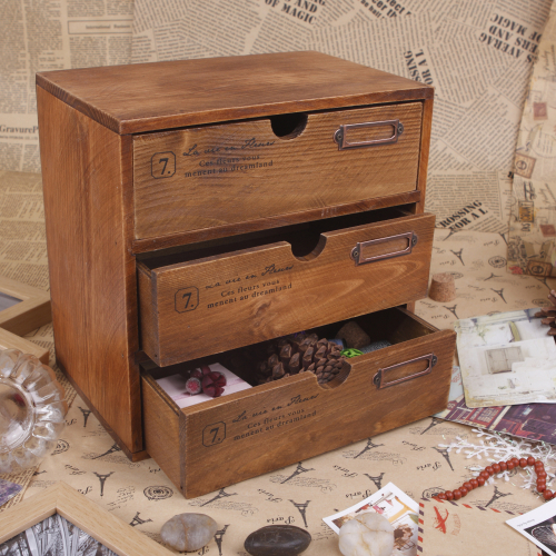 Table Stand Vintage Small Storage Cabinet Sundries Jewelry Chest of Drawers(China (Mainland))