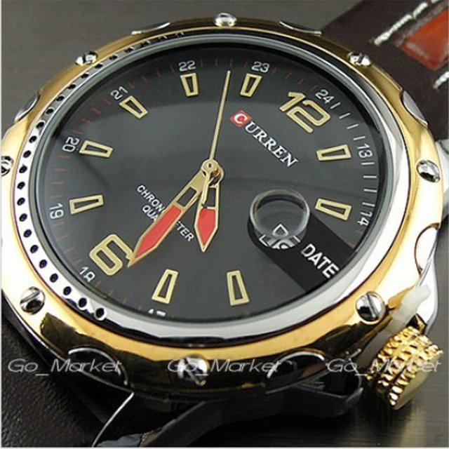 Люкс Curren кварцевые женские человек золото свободного покроя часы мода Gueniue кожа авто дата мужской прямая поставка 2015 relojes хомбре