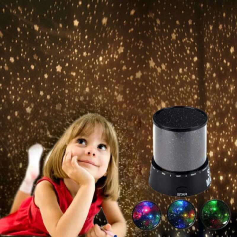Amazing Flashing Colorful Sky Star Master LED Night Light Lovely Sky Starry Star Projector Novelty Gifts(China (Mainland))