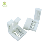 Tanbaby 15pcs * 5pin RGBW Conectors For 12mm 5050 RGBW LED Strip No Welding, Easy Solution DIY connector for strip to strip