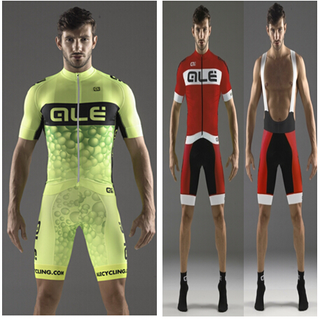 Hot sale Ale cycling jersey and bib short with 3D pad kit maillot ciclismo bike Short sleeve ropa ciclismo mujer cycling sets(China (Mainland))