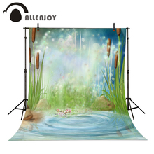 Allenjoy Photo background pond bulrush firefly wonderland flower baby Photophone christmas photo backdrop a bag(China (Mainland))