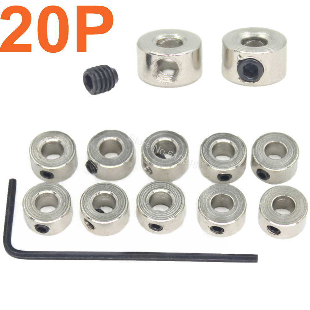 20pcs Steel Landing Gear Stop Sets Wheel Collars 6x2.1mm 8x3.1mm 9x4.1mm 7x2.6mm RC Airplane Parts Model Plane Replacement(China (Mainland))