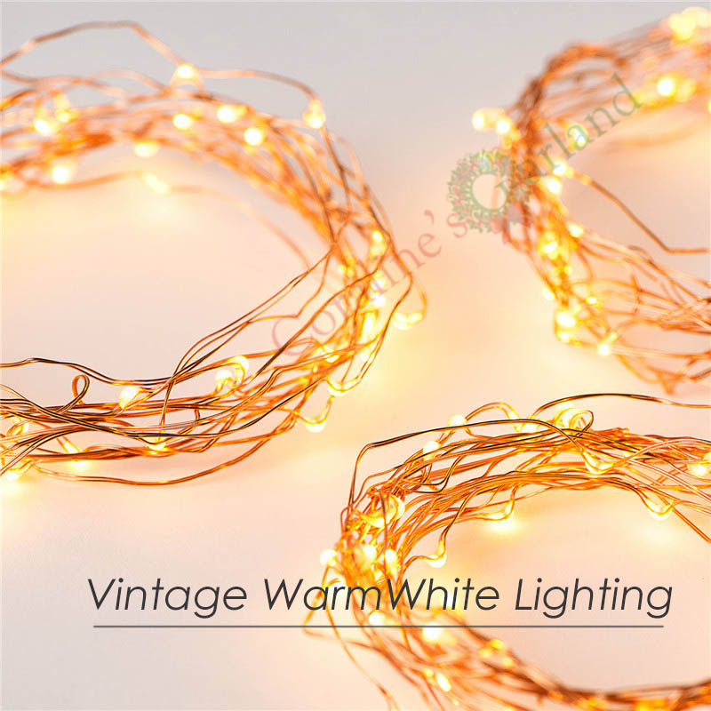 3 Sets Battery Operate 16FT 5M 50 led Garland lights Holiday Wedding Party Decoration Festival Copper Wire Fairy String Lights(China (Mainland))