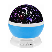 Star Sky Projector 4 LED Bead 360 Degree Romantic Room Rotating Cosmos Star Lamp Kid Bedroom Lamp For Lnight Baby