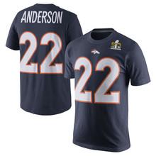 Men's Von Peyton Miller CJ Paxton Anderson Lynch Manning DeMaryius Derek Thomas Wolfe Customs Champions T-Shirts!(China (Mainland))