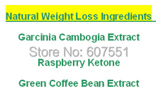 Natural Weight Loss Ingredients Garcinia Cambogia +Raspberry Ketone + Green Coffee Bean Extract 500mg x 300caps free shipping
