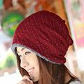 Retro Vintage Style Beanies Women s Winter Thick Hat Little White Dots Striped Design Skullies Beanie