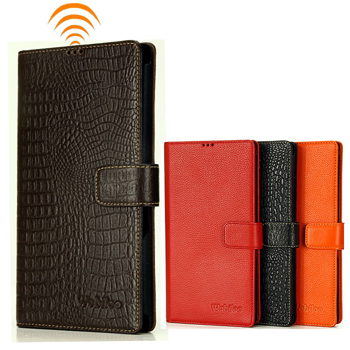 Genuine Leather Flip Stand Wallet Style Magnetic Buckle Phone Bag+Card Holders Cover Case For Sony XL39H(Xperia Z Ultra)