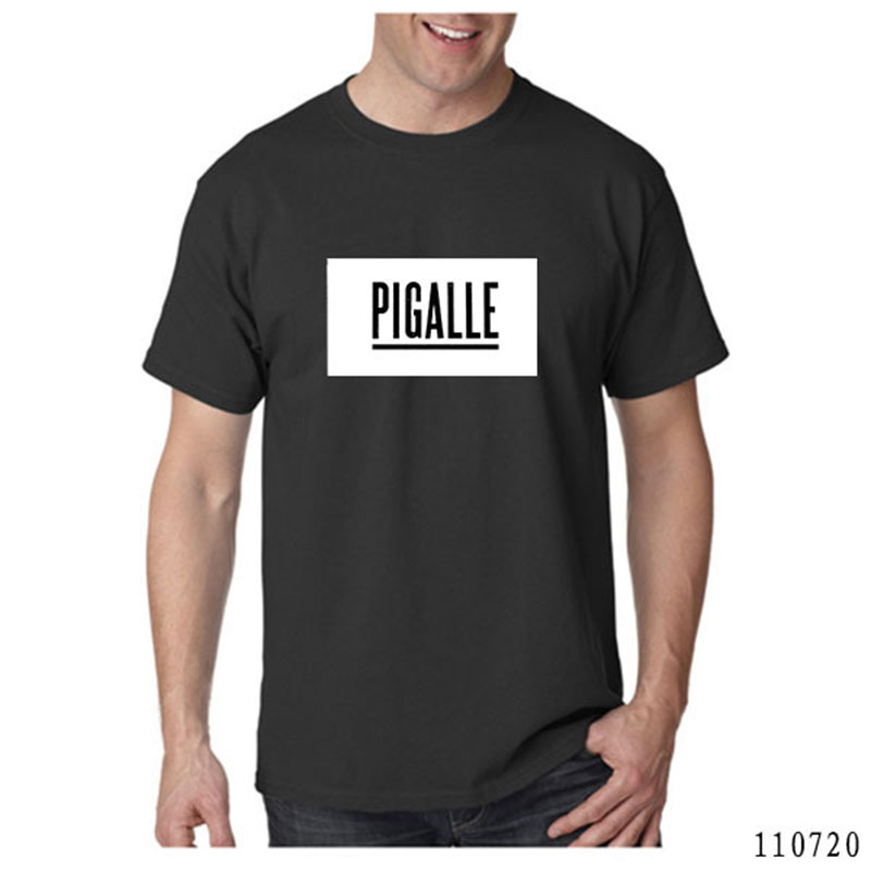 Top Quality pigalle t shirt Men Monochrome Yeezy ASAP Rocky Pigalle Kanye West t-shirt(China (Mainland))