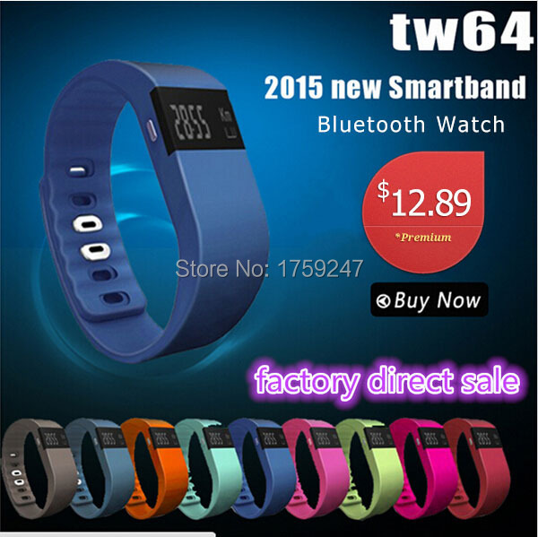 Bluetooth Smart Watch TW64 SmartBand Bracelet Wearable Life Waterproof Pedometer SmartWatch For IOS Android Fitness Tracker(China (Mainland))