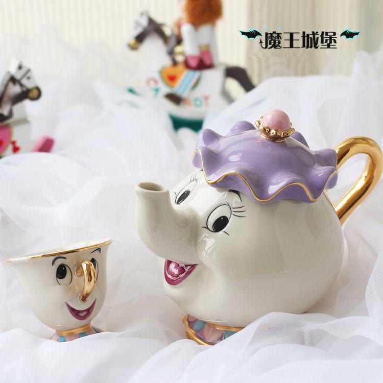 Sales Promotion Cartoon Beauty And The Beast Teapot Mug