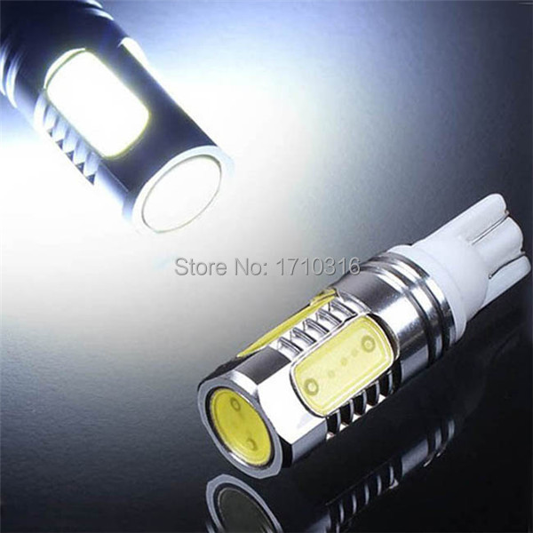 Wholesale Price T10 W5W 194 168 7.5W COB LED High Power Car Auto Wedge Side Lights Reverse Parking Bulb Backup Lamp DC12V(China (Mainland))