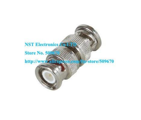 Free Shipping /50pcs/ BNC male plug to BNC male straight adapter conector(China (Mainland))