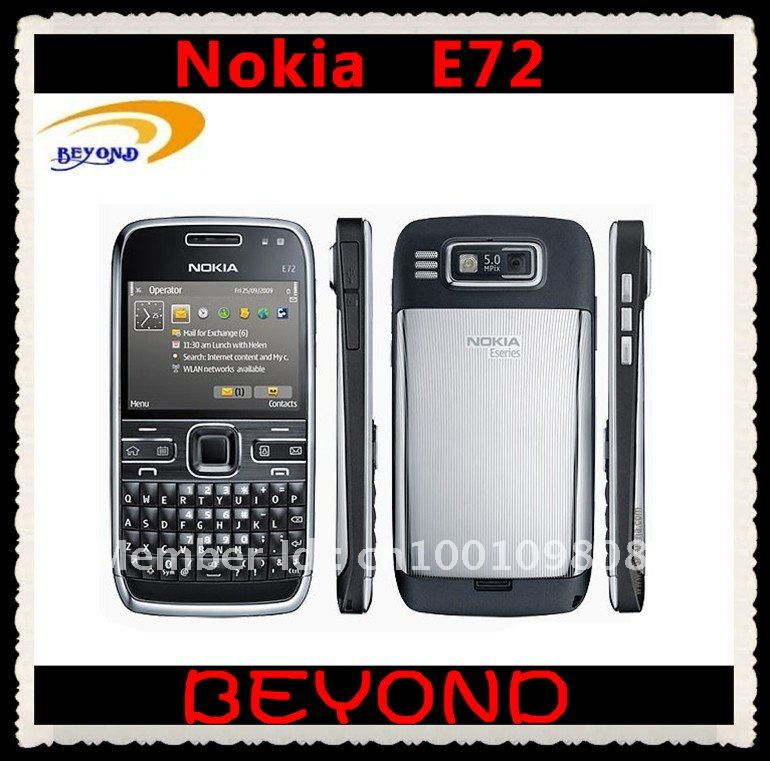100% Original Nokia E72 unlocked 3G GSM mobile phone WIFI GPS QWERTY 5MP free shipping Refurbished