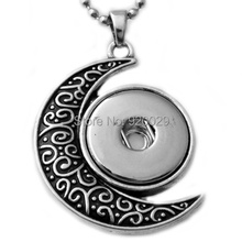 G00103  newest moon snap button jewelry pendant for 18mm button(China (Mainland))