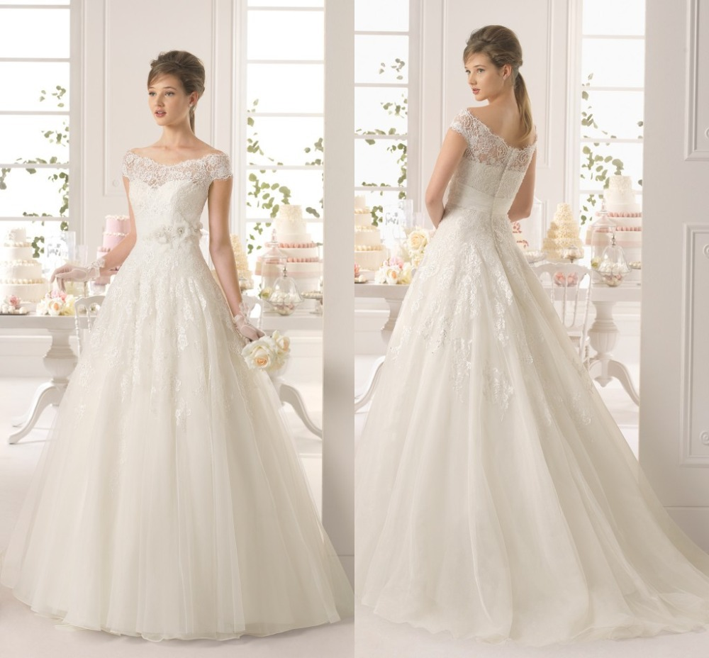 Aliexpresscom buy new arrival scalloped neck lace for Lace wedding dress patterns