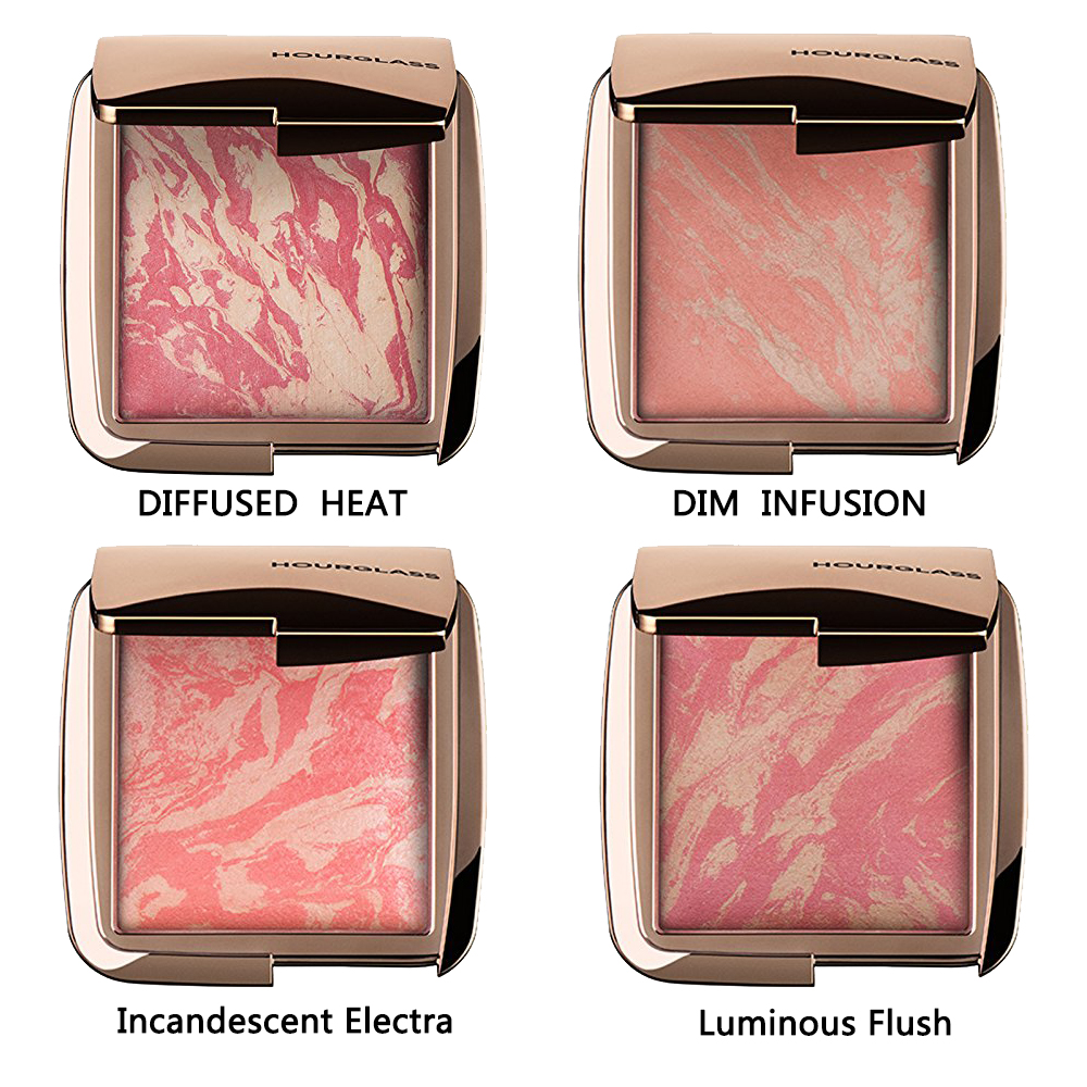 Hourglass Ambient Lighting Blush Color Luminous Flush DIFFUSED HEAT , DIM INFUSION , Incandescent Electra, Luminous Flush(China (Mainland))