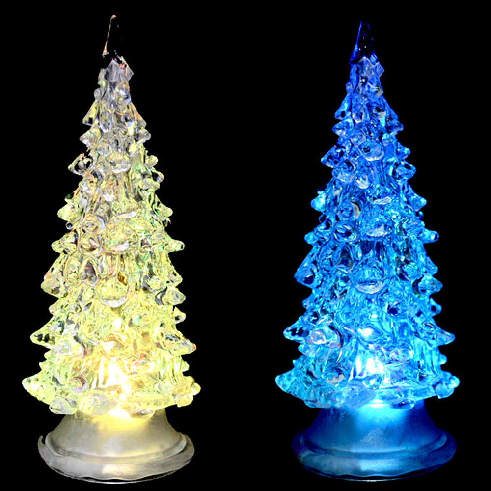 Colorful LED Christmas Lighted Tree Decorations Changing Color Christmas Tree Ornaments LED Lights Tree Outdoor Decorations(China (Mainland))