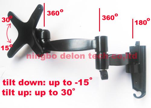 aluminum10inch 23 inch 32inch tiltable lcd tv wall mount swivel led tv bracket shelf(China (Mainland))