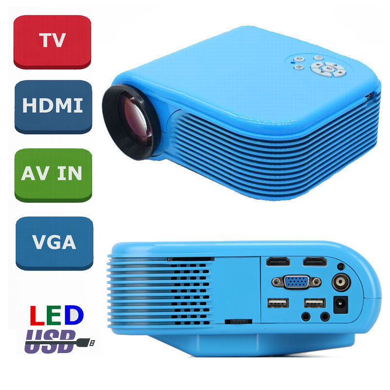 2016 new arrival H88 digital portable led mini projector HD 1200 lumens 1920*1080px Multimedia video Projector HDMI Home Theatre(China (Mainland))