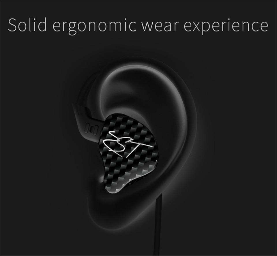 KZ ZST Armature Dual Driver Earphone Detachable Cable In Ear headset Audio Monitors Noise Isolating HiFi Music Sports earphone