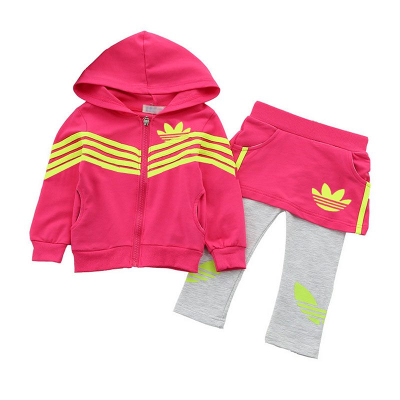 2016 Brand New Children Clothing Set Baby Girl s 2pc clothes Sports Suit Baby Clothing Sets