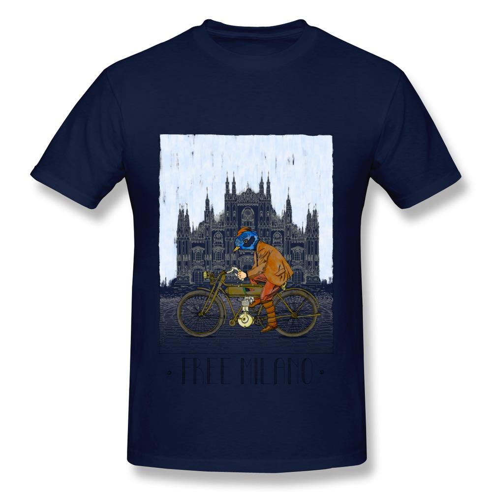 Free shipping 100 cotton t shirt men 39 s free milano italy for Custom t shirts international shipping