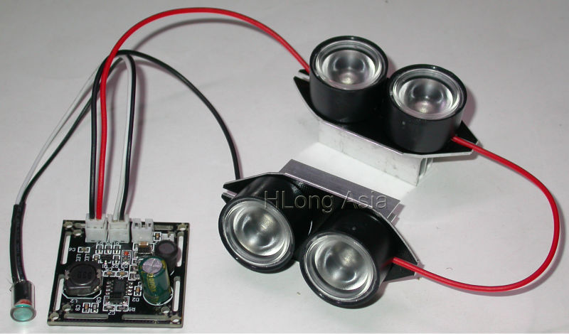 Spot Light Infrared 4x IR LED board for CCTV cameras night vision(China (Mainland))