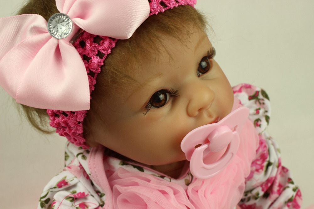 Reborn Baby Dolls, Baby Growth Partners, Headband Pink Small Safflower to Accompany Sleep Little Princess 22''(China (Mainland))
