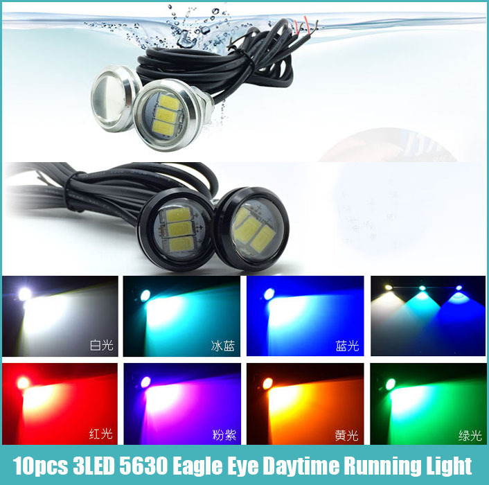 Free shipping 10pcs/lot Car styling waterproof New 3SMD 5630 LED Eagle Eye light For Daytime Running Light DRL Fog lamp Light(China (Mainland))