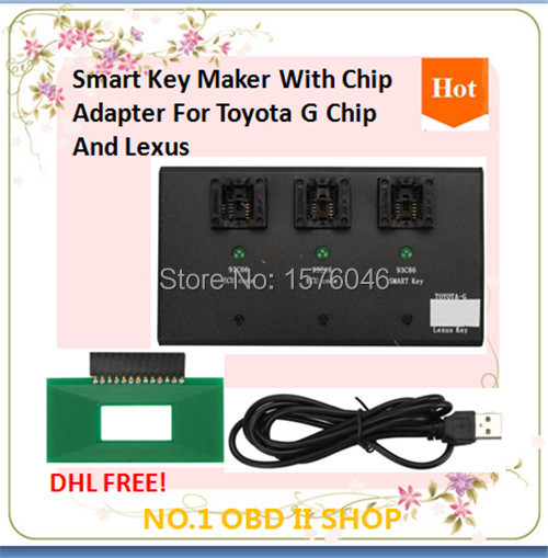 2015 Toyota G Chip Lexus Smart Key Maker Adapter Programmer - NO.1 OBD II SHOP store