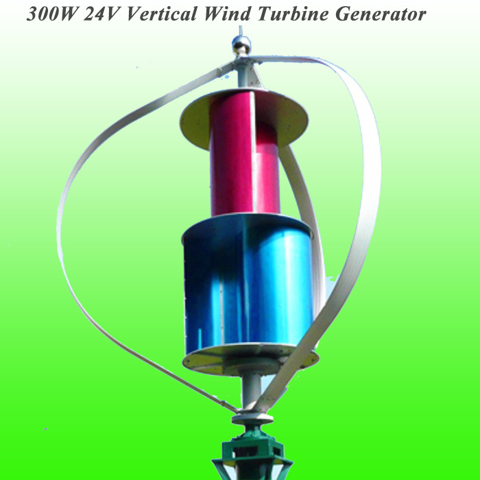 Perfect 300W 24V Vertical Axis Wind Generator Low Wind Speed Starting Wind Generator Residential Generator(China (Mainland))