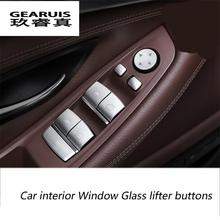 Buy Car-styling interior Window Glass lifter buttons sequins Chrome ABS 3D stickers BMW 3/5/7 series 5GT X1 X3 X4 X5 X6 E70 F16 for $14.00 in AliExpress store