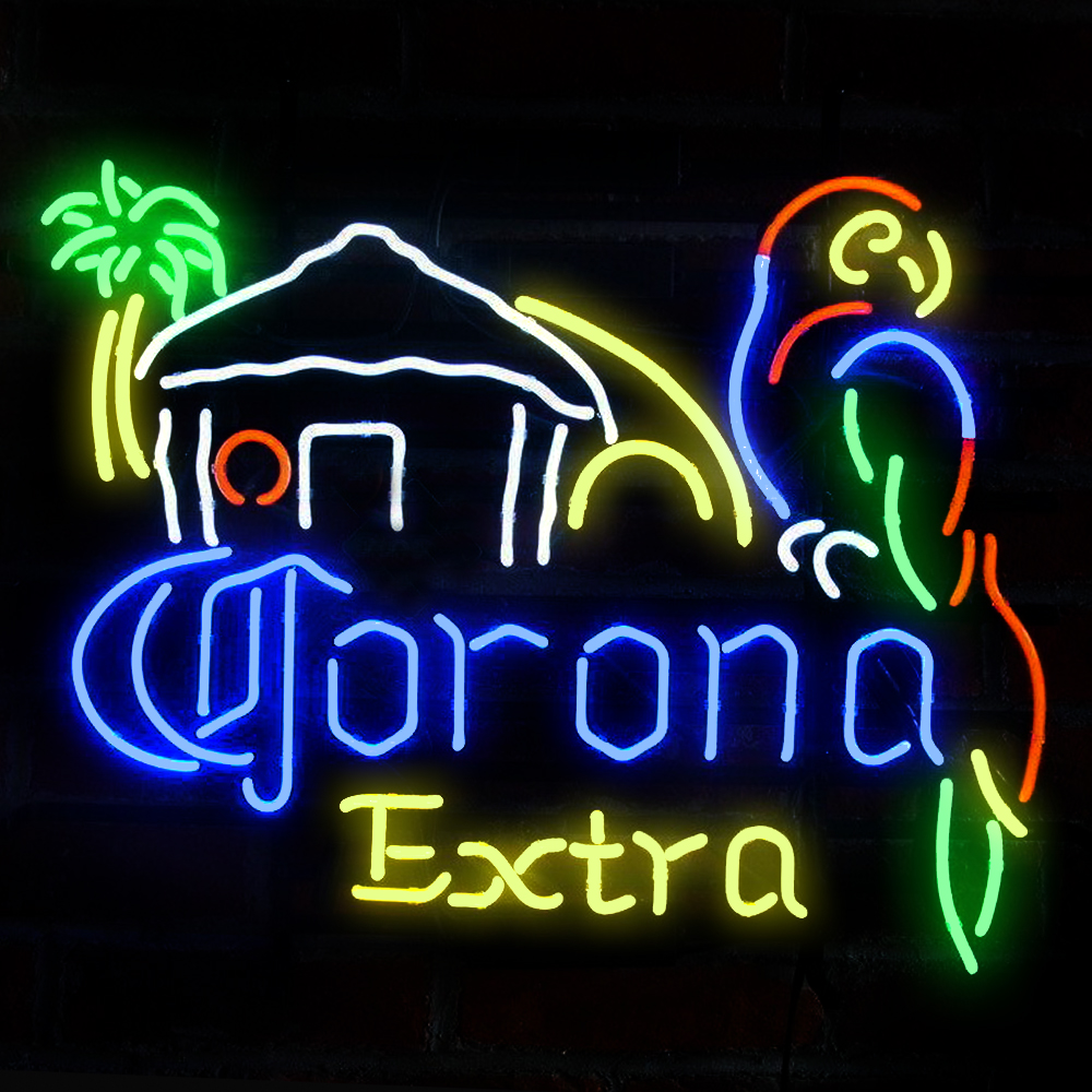 FS Neon Sign!Super Bright!Corona Extra Beer Parrot Handcrafted Neon Light Sign Beerbar Sign Neon Beer Sign 19x15(China (Mainland))