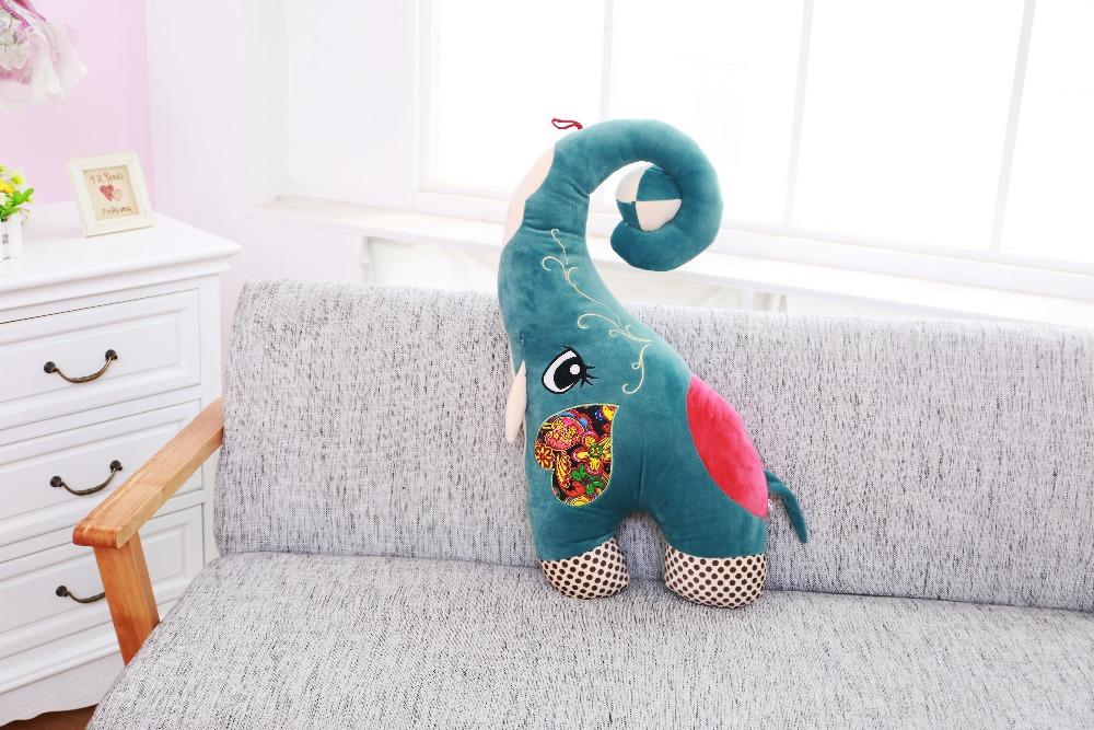 1PCS 70cm Lovely Elephant Stuffed Animals Plush Toys For Children's Gift Free Shipping(China (Mainland))