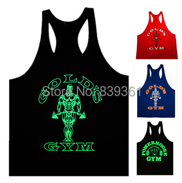 Fitness Mens Tank Tops Golds Gym Vest Sleeveless Shirt Bodybuilding Powerhouse Sports Clothes Stringer Undershirt Luminous - Brand New store