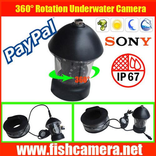 Freeship 50m 360 degree PTZ CCD underwater CCTV camera,PTZ waterproof camera,undervattens kamera,underwater video camera(China (Mainland))