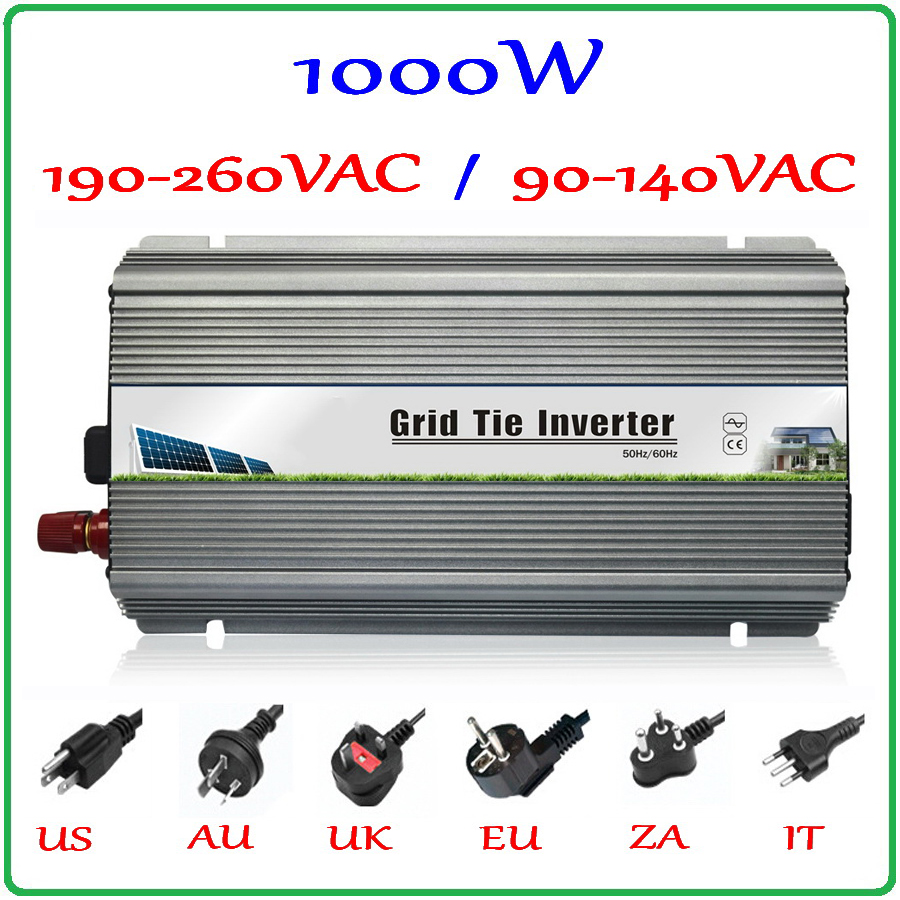 1000W Grid Tie Inverter MPPT Function, 10.5-28VDC Input to 110V/220VAC Pure Sine Wave Output Micro on grid tie inverter 1000W(China (Mainland))