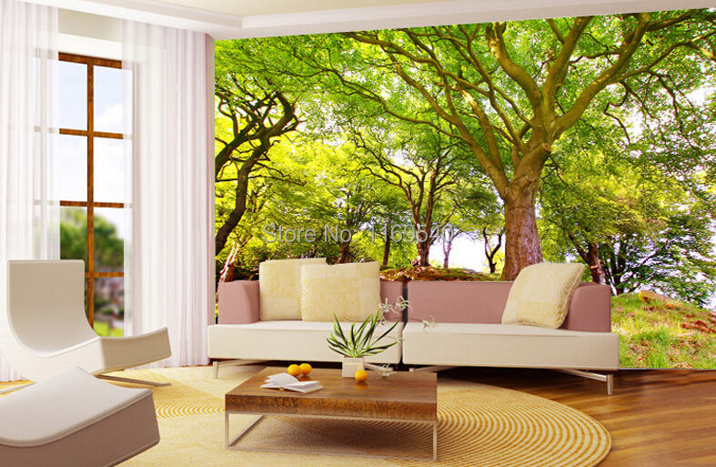 Wallpaper cool picture more detailed picture about 2015 for Green wallpaper living room