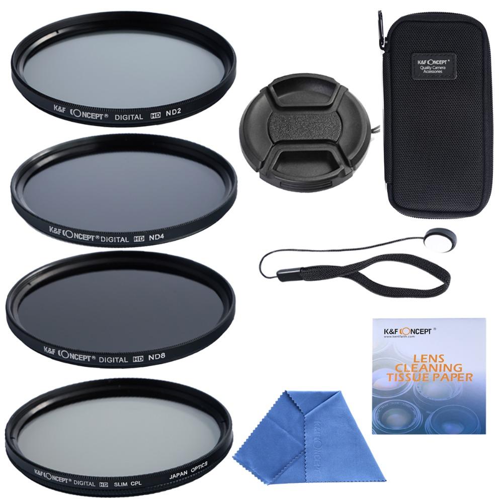 55mm CPL + ND2 ND4 ND8+Cleaning kits+ pouch bag  Filter Kit Lens Filter Kit for Nikon D7100 D7000 D3100 D3000 Dslr Camera<br><br>Aliexpress