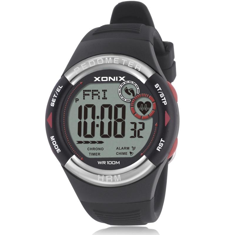 xonix pedometer rate monitor calories bmi sports