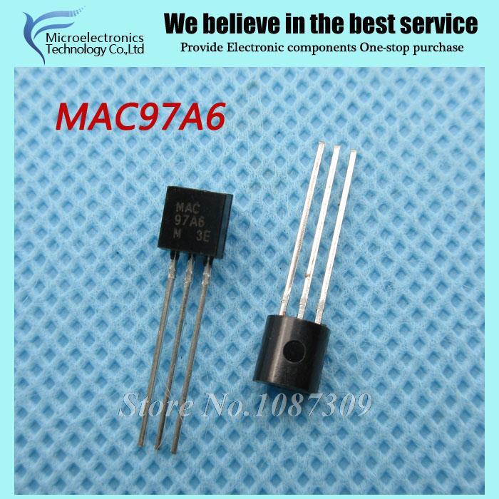 50pcs free shipping MAC97A6 97A6 TO-92 Triacs THY .6A 400V TRIAC new original(China (Mainland))